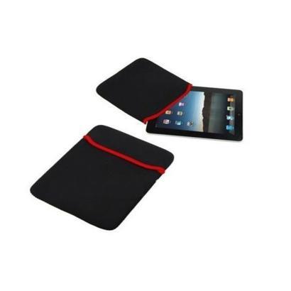 """7"""" dubbelzijdige beschermhoes voor tablet zwart/rood randje"""