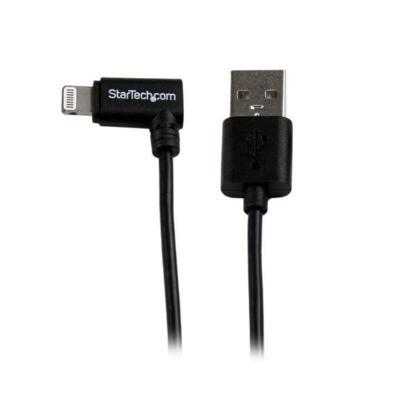 StarTech 8-pin Hoekige Lightning naar USB kabel 2m zwart