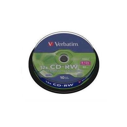 Verbatim CD-RW 700MB 10 stuks Spindel