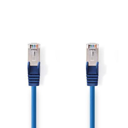 Blauwe CAT5e SF/UTP netwerkkabel 0,50m bulk