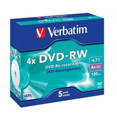 Verbatim DVD-RW 4,7GB 5 stuks Jewelcase