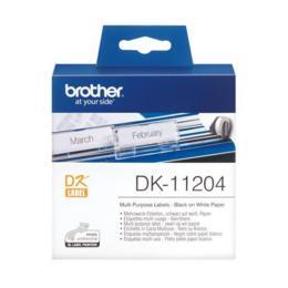 Brother DK-11204 Multi Purpose label 17x54mm wit