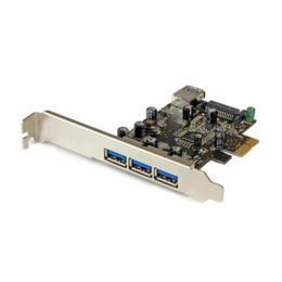 StarTech 4-poorts (1x intern) USB 3.0 PCI-E 1x adapterkaart