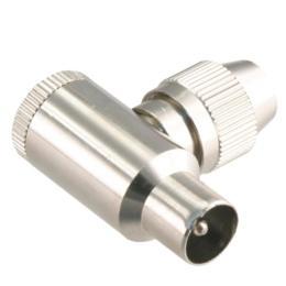 Coax connector metaal male haaks