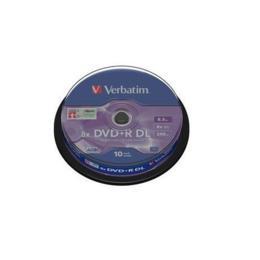 Verbatim DVD+R 8,5GB Dual Layer 10 stuks Spindel