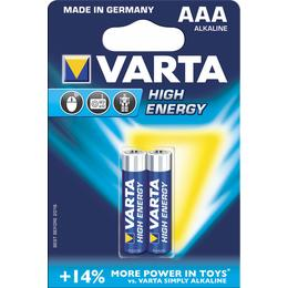 Varta High Energy LR03 AAA batterij 2 stuks