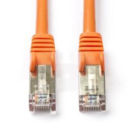 Oranje CAT5e SF/UTP netwerkkabel 0,50m bulk
