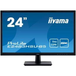 """24"""" iiyama E2483HSU-B5 LED 1ms D-Sub/HDMI/DP/USB + Spks"""