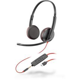 Plantronics Blackwire C3225 USB-C koptelefoon zwart