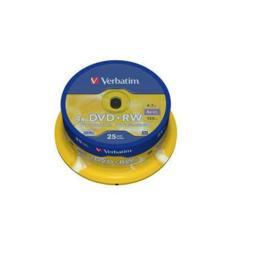Verbatim DVD+RW 4,7GB 25 stuks Spindel