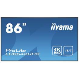"""86"""" iiyama LH8642UHS-B3 4K UHD 8ms D-Sub/DVI/HDMI/DP"""