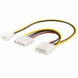 Voedingskabel 2x 4-pins Molex naar 2-pins fan adapter