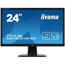 """24"""" iiyama B2483HS-B3 LED Pivot D-Sub/HDMI/DP + Spk"""