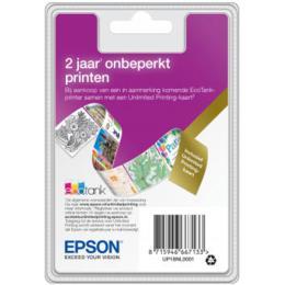 Epson EcoTank Unlimited printing card