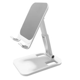 Tablet & telefoon standaard / houder hoogte verstelbaar wit
