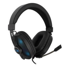 Ewent Play PL3321 over-ear gaming RGB headset zwart