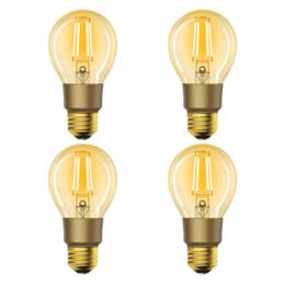 4-pack Woox Smart Filament WiFi LED E27 lamp