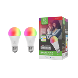 2-pack Woox Smart R9077 Zigbee RGB LED lamp E27