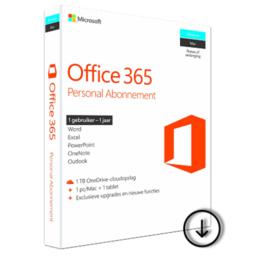 Microsoft Office 365 Personal 1 gebruiker 1 jaar (Download)