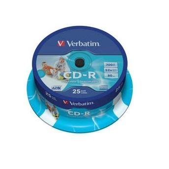 Verbatim CD-R Printable 25 stuks