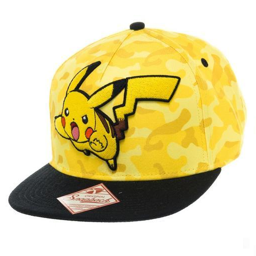 Image of Bioworld Pikachu Camo Snapback