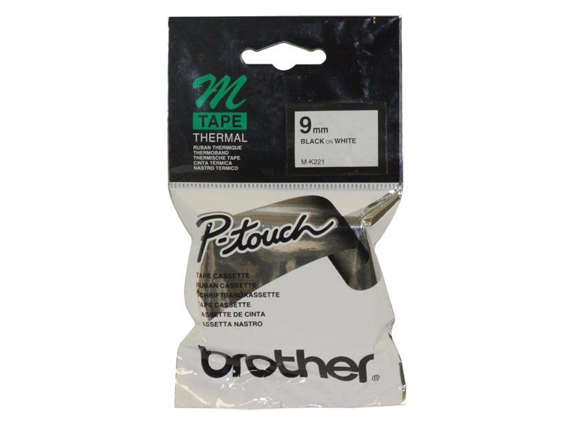 Brother M-K221BZ tape 9mm