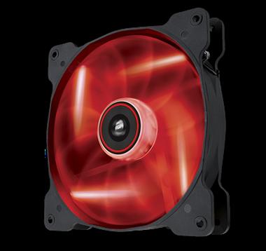 Corsair AF140 LED Quiet edition rood