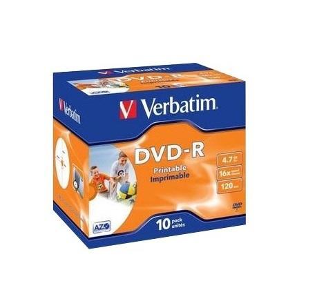 Verbatim DVD-R Printable 10 stuks