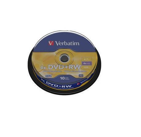 Verbatim DVD+RW 10 stuks