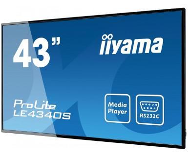 iiyama LE4340S-B-43LED VGA DVI-D HDMI 8ms bk (LE4340S-B1)