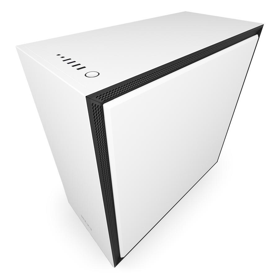 NZXT H700 mat zwart/wit