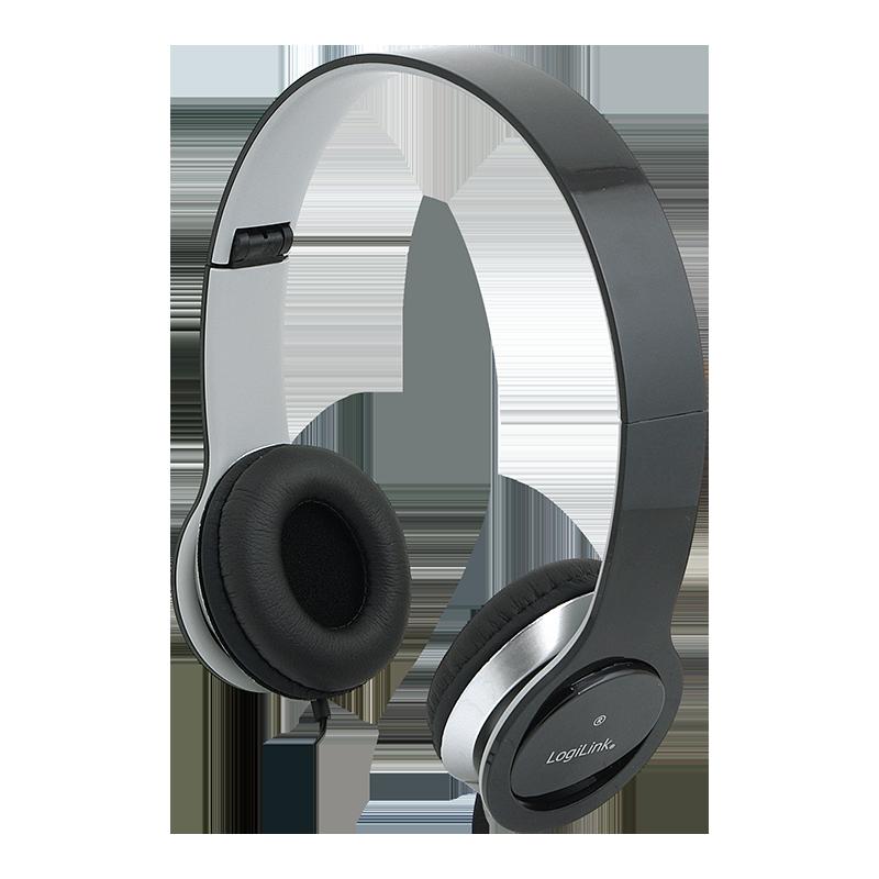 LogiLink High Quality koptelefoon zwart