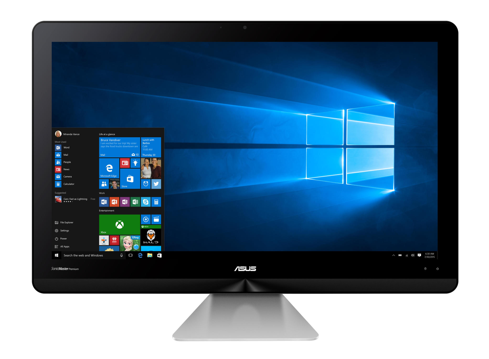 "Image of Asus All in One Zen AiO ZN220ICUK-RA012X 21.5"", i3 6100U, 500GB"