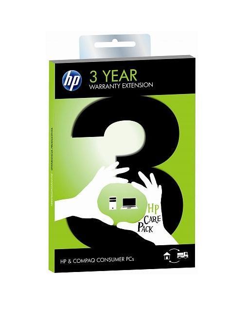 HP Garantie uitbreiding vervanging 3 jaar Pick-up & Return 7 werkdagen (reparatie) Consumer PC