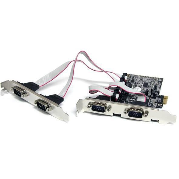 StarTech 4x Seriele RS232 *LP Bracket* PCI-E 1