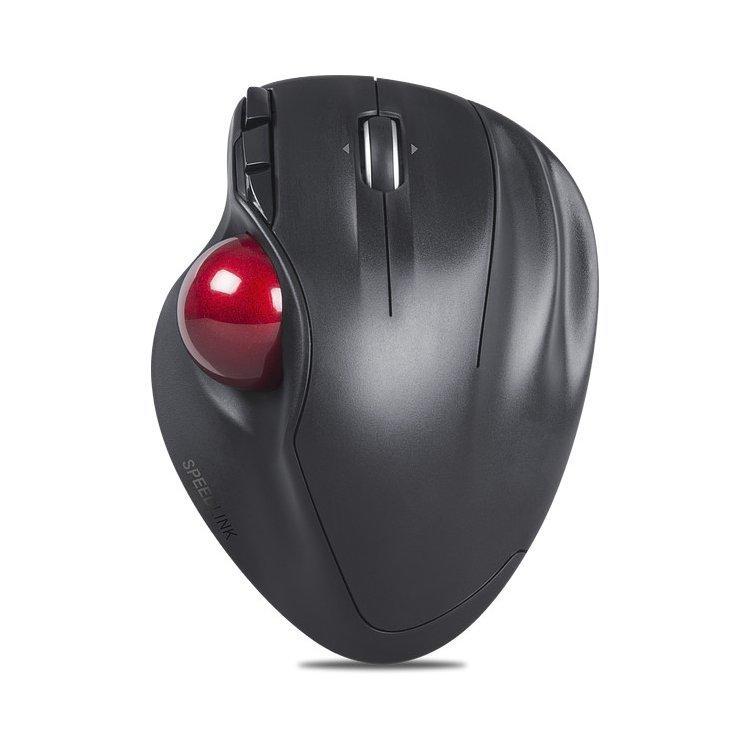 SpeedLink Aptico Draadloze muis Optisch Geïntegreerde trackball, Ergonomisch Antraciet, Wijnrood