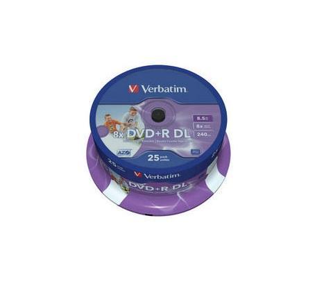 Verbatim DVD+R Double Layer Printable 25 stuks