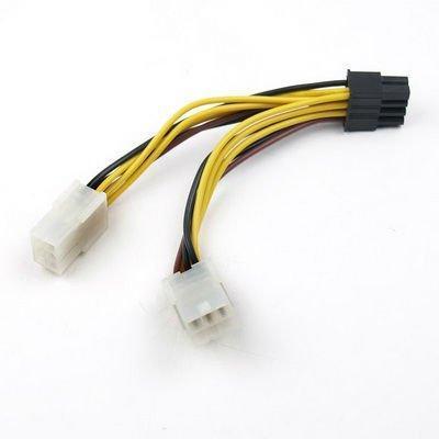 2x 6pins PCI-E naar 1x 8pins PCI-E