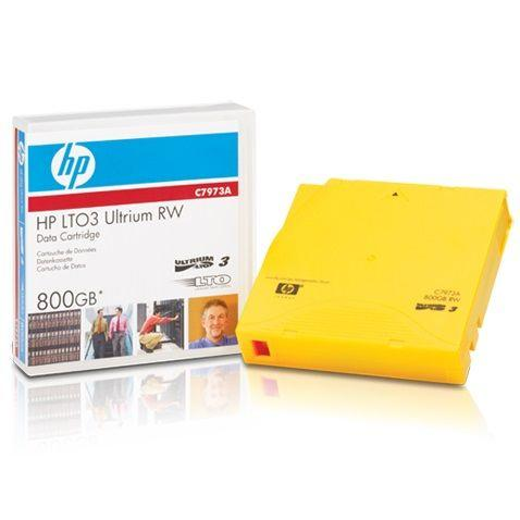 Image of HP Back up Tape/Cartridge LTO3 Ultrium 800GB p/n C7973A