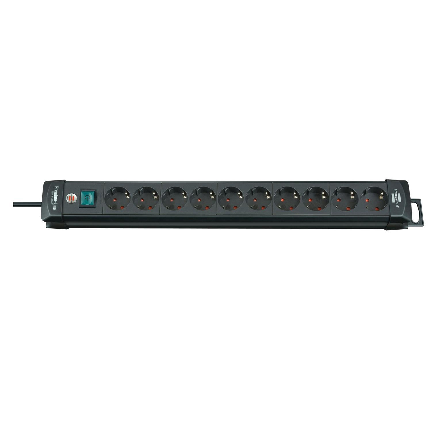 Brennenstuhl Premium-line 10-voudig zwart