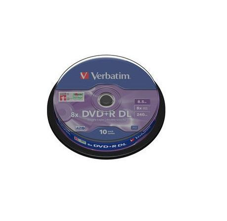 Verbatim DVD+R Double Layer 10 stuks