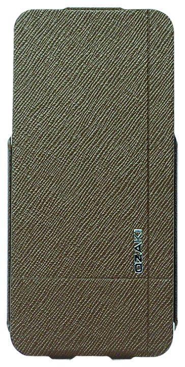 Ozaki O!Coat Aim High Flip Leather Case for Apple iPhone 5, Brown (OC553SY)