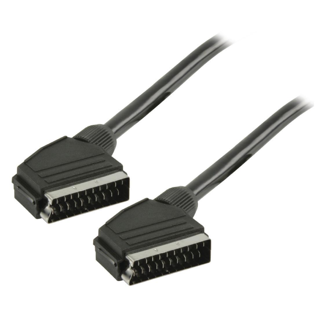 SCART kabel SCART mannelijk SCART mannelijk 2,00 m zwart