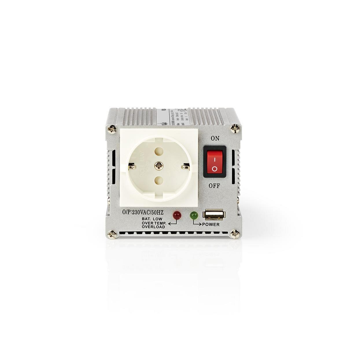 Stroomomvormer Gemodificeerde Sinusgolf   24 V DC 230 V AC   300 W   1x Schuko-1x USB-Uitgang