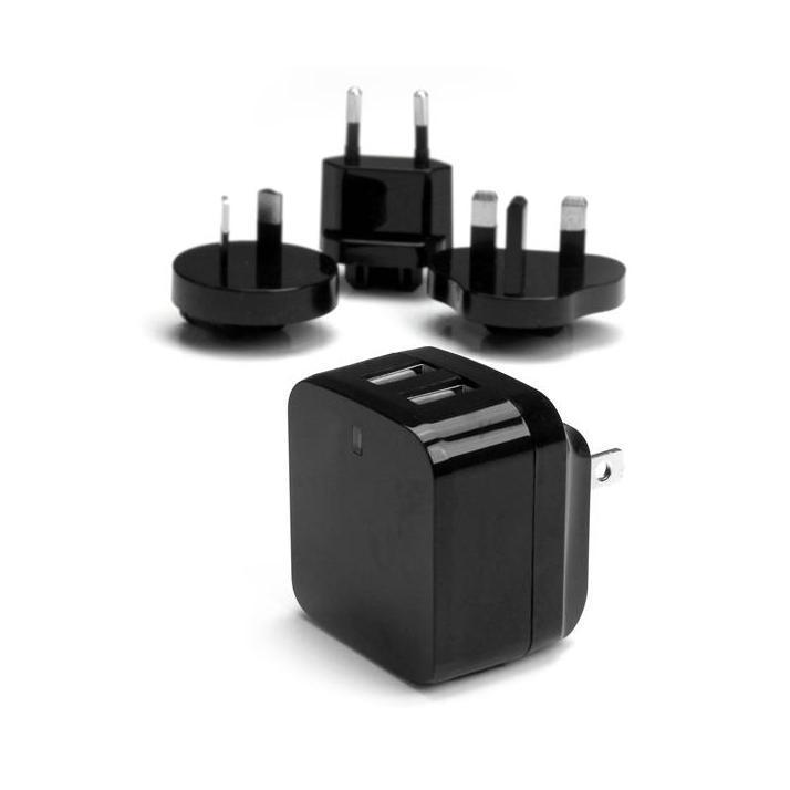 StarTech 2-poorts USB reislader zwart