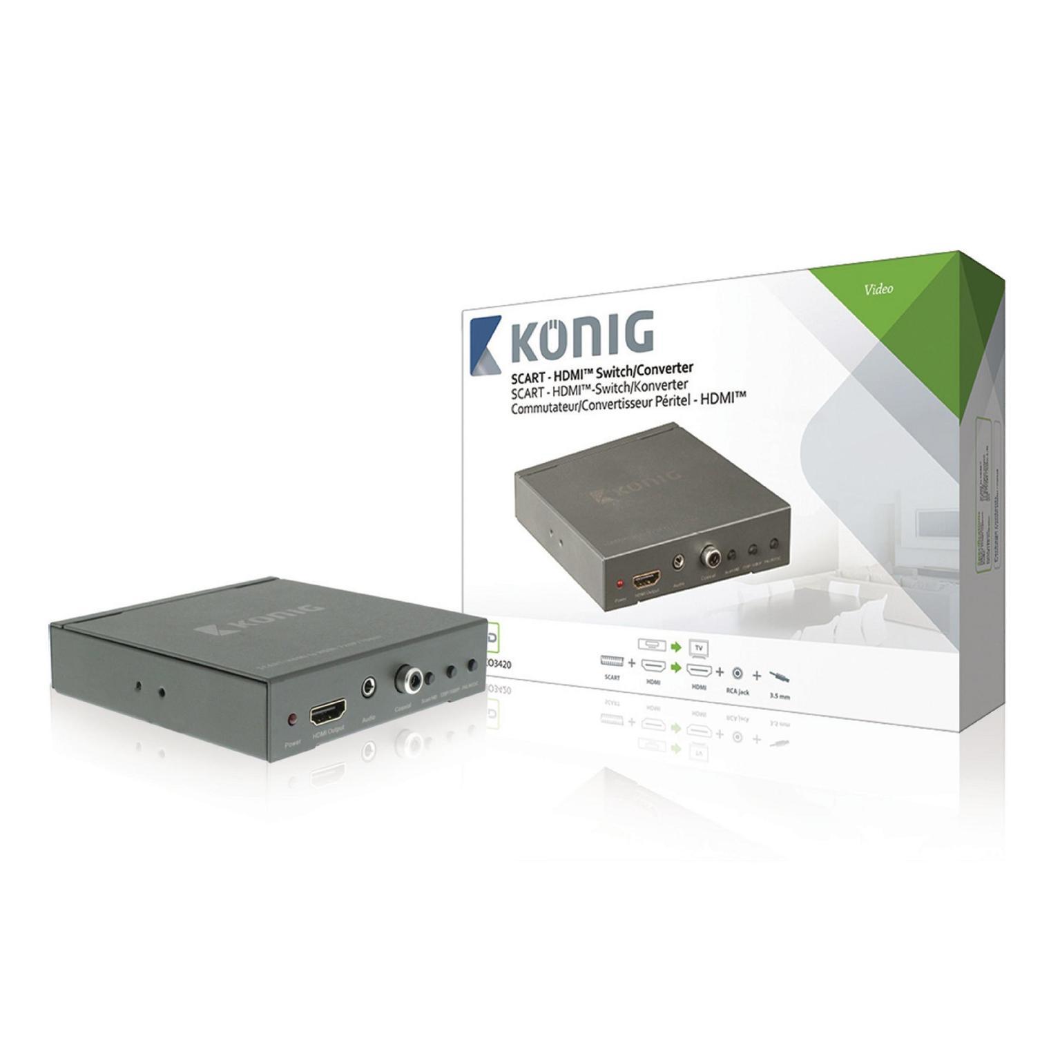 Image of Konig Scart naar HDMI converter