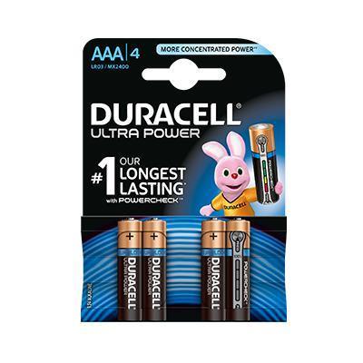 Duracell Ultra Power AAA batterij 4 stuks
