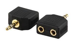 Image of Audioconverter Stereo Jack naar 2x Kontra stekker (splitter)