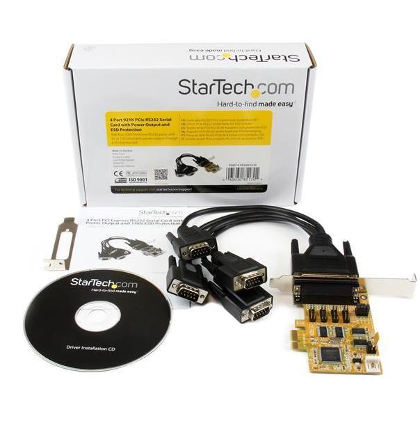 StarTech 4x ESD Seriele RS232 LP PCI-E