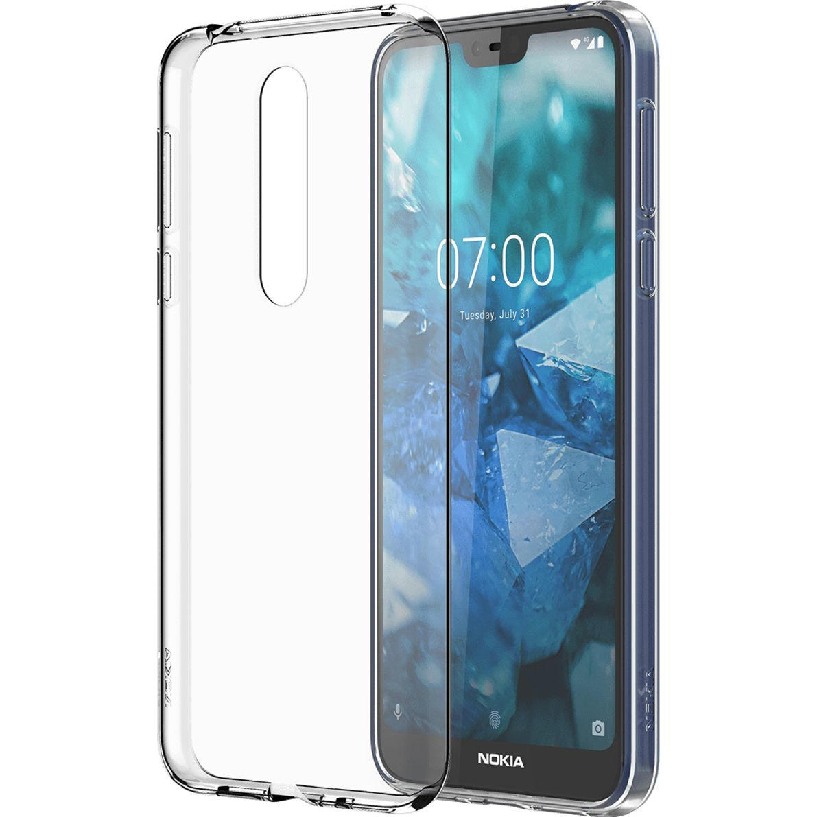Nokia 7.1 back case transparant